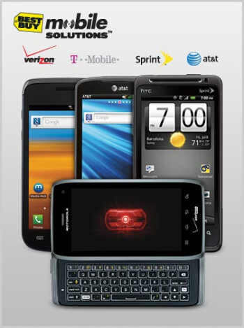 The Motorola DROID 4 poses for Best Buy's site