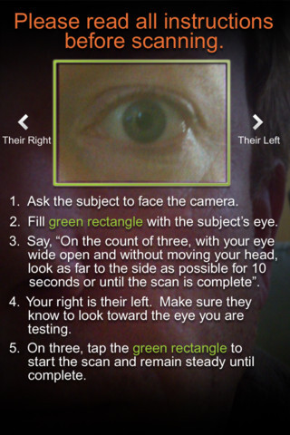 iPhone app BreathalEyes measures your... blood alcohol content