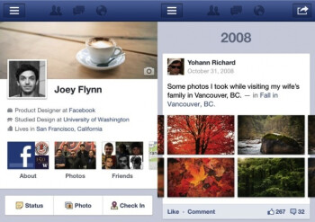 Facebook Timeline app update to land on iPad in mid to late January