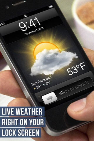 Lock Screen Weather for iPhone does what it says with a catch