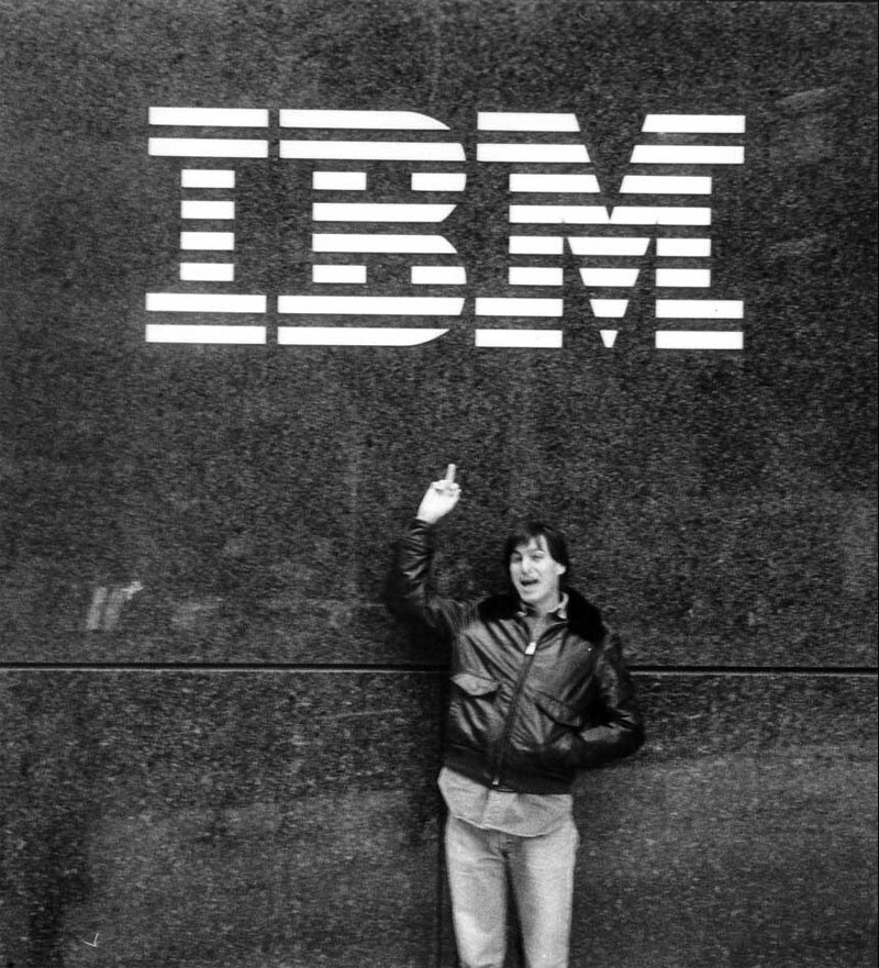 "Steve Jobs tells IBM that Apple is #1 - Steve Jobs tells IBM ""We're number one"" in 30 year old picture"