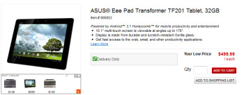 Office Depot is selling the 32GB Asus Transformer Prime online for $499.99