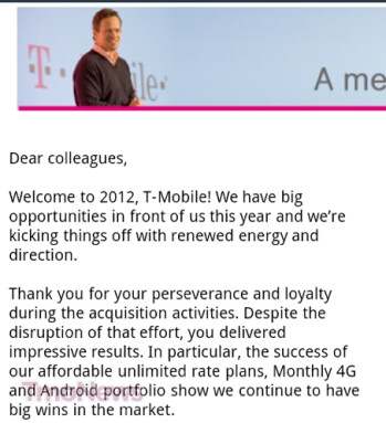 T-Mobile's CEO tries to inspire the troops
