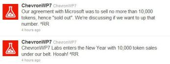 ChevronWP7 team sells 10 000 Windows Phone Unlock tokens, runs out