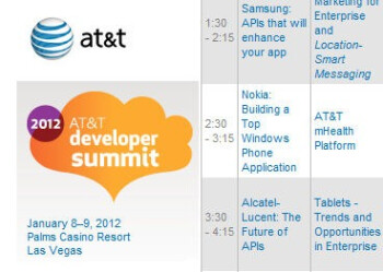 Nokia is slated to talk about developing for Windows Phone at AT&T's CES developer conference