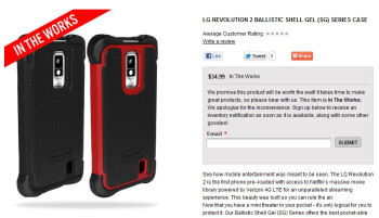 "Ballistic says LG Revolution 2 cases are ""in the works"""