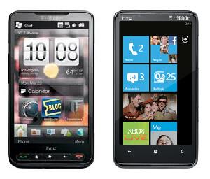 HTC HD2  and HTC HD7