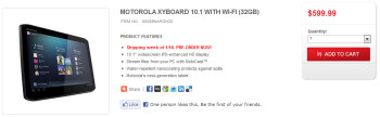 The Wi-Fi only versions of the Motorola XYBOARD tablets can now be pre-ordered from Motorola