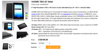 The Gadmei T863 can be ordered now from Brando for $199
