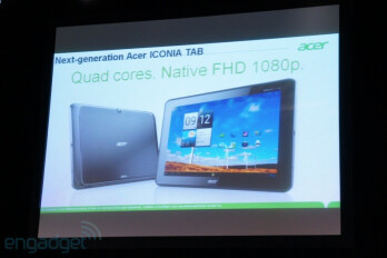 Acer shows off quad-core Iconia Tab with 1080p display