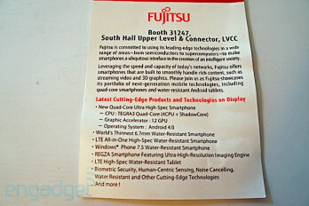 Fujitsu will announce the world's first quad-core Tegra 3 smartphone at CES