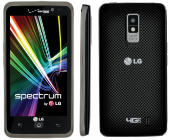 "LG Spectrum pairs a 4.5"" True HD IPS screen with Verizon's LTE network and ESPN HD video partnership"