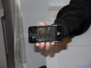 Live photos of the LG Spectrum, taken at CES 2012