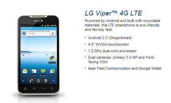 LG Viper is a 4G LTE smartphone for Sprint, which also happens to be ECO-friendly
