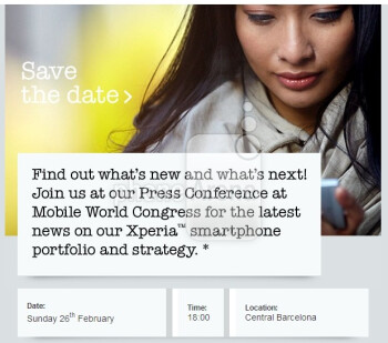Sony starts sending out MWC 2012 invitations, hints at new Xperia smartphones
