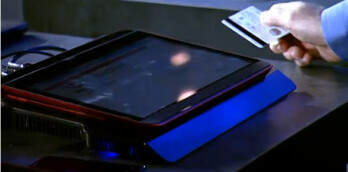 Windows 8 ultrabook with touchscreen that slides up from tablet mode to reveal a physical keyboard