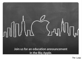 "Apple will hold an ""education"" event January 19 at the Guggenheim in NYC"