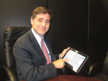The FCC Chairman and his new Samsung tablet