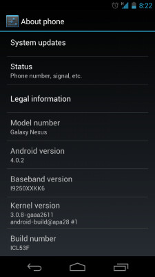 Android 4.0.2 is being rolled out again for the GSM version of the Samsung GALAXY Nexus