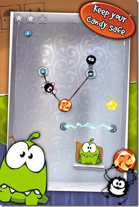 Cut the Rope is now on the BlackBerry PlayBook