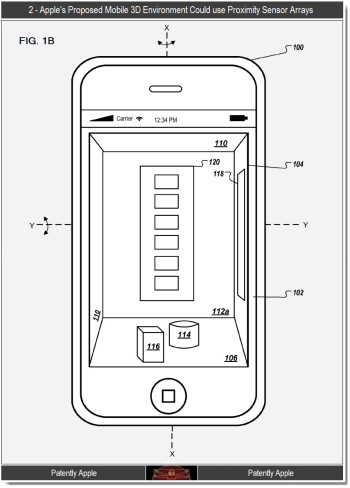 Apple working on a motion and gesture controlled 3D GUI for iOS