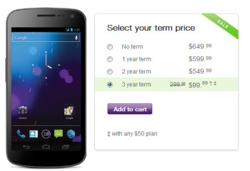The Samsung GALAXY Nexus is just $99.99 with a 3-year pact through January 26th