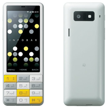 Only in Japan: KDDI's INFOBAR C01 is a unique big-buttoned and colorful Android phone