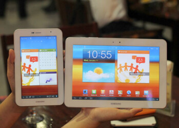 Samsung Galaxy Tab 10.1 and Galaxy Tab 7.7 in white