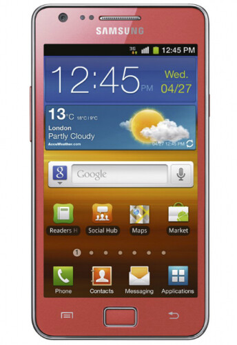 Pink flavored Samsung Galaxy S II is UK bound in time for Valentine's Day