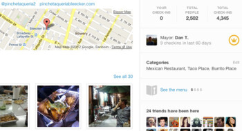 On top of checking in, you can now browse through restaurant menus with Foursquare for mobile