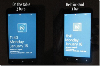 Picking up the HTC Titan can reduce the number of bars of service on the phone