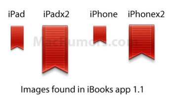 Graphics with high resolution discovered in the iBooks and iBooks 2 apps