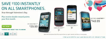 US Cellular's new promotion shaves $100 off all smartphones until Valentine's Day