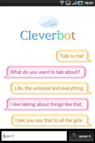 Super Hypnotherapist (left) and Cleverbot (right)