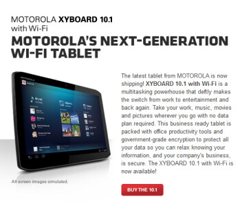 Motorola is now offering both Wi0Fi only versions of the Motorola XYBOARD tablets with free 2-day shipping