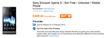 Play now has a February 13th shipping date for the Sony Xperia S