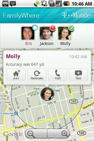 T-Mobile's FamilyWhere offers family member tracking services