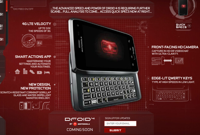 The Motorola DROID 4 on the DROIDDOES site - Motorola DROID 4 now on the DROIDDOES web site