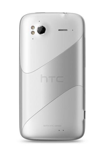 The HTC Sensation in ice white