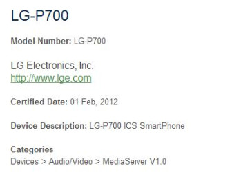 LG P880 and P700 Android smartphones discovered, MWC debut sounds plausible