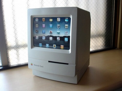 Modded Mac Classic iPad Dock