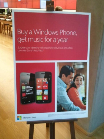 Microsoft Stores promotion offers a free year of Zune Pass for those who buy a Windows Phone