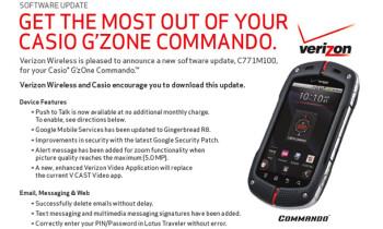 Casio G'Zone Commando now supports PTT