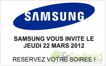 Invite for the March 22nd event