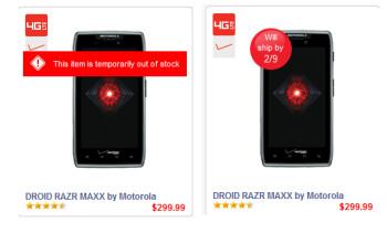 The Motorola DROID RAZR MAXX is back in stock