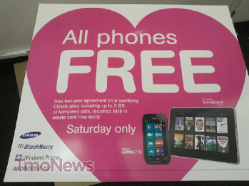 These leaked ads show T-Mobile's handsets free after rebate this Saturday only