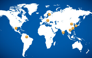 Nokia's current map of factories.