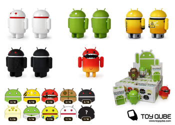 Series 1 (L) and Series 2 (R) of the mini-Android collectables