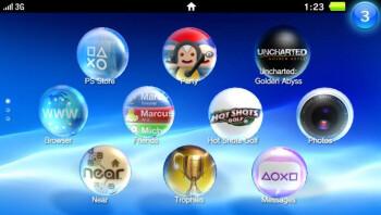 The PS Vita UI