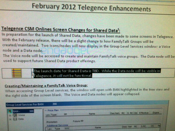 AT&T shared data plans could become reality soon - AT&T shared data plans could become reality soon, spy shots indicate